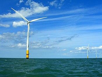 English: Vestas V90-3MW wind turbines of the K...