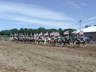 Equestrian drill team - Equestrian drill team