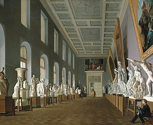 Imperial Academy of Arts - G. K. Mikhailov, Second Antique Gallery at the Academy of Arts, 1836.