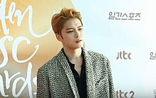 Kim Jaejoong at the Golden Disc Awards, 2017.jpg
