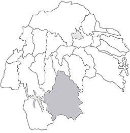 Kinda herreders beliggenhed i Östergötland.