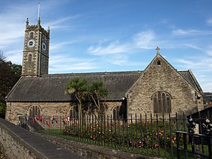 "Falmouth, Cornwall - Falmouth Parish Church, Church Street, dedicated to ""King Charles the Martyr"""