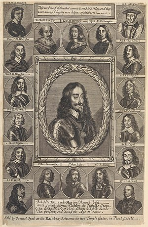 Cavalier - An engraving depicting Charles I and his adherents.