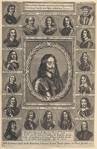 King Charles I and his adherents