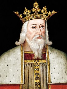 Early modern half-figure portrait of Edward III in his royal garb