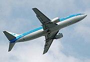 KLM Boeing 737-400 taking off