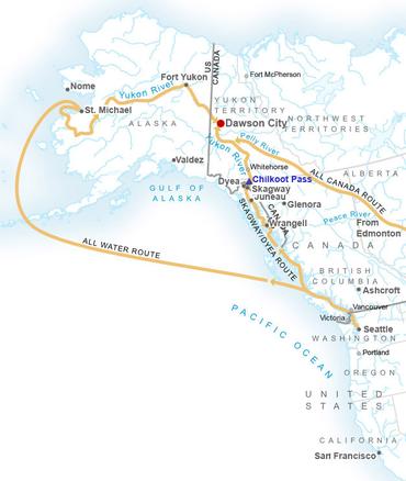 Map Of Canada Yukon River.Klondike Gold Rush Wikipedia
