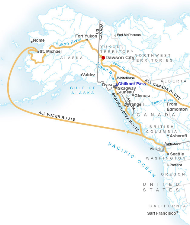 Route to the Klondike