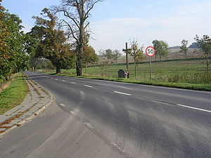 Poland bus disaster of 1994 - Site of the accident, marked by a cross