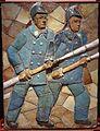 Kollum - tegeltableau brandweerkazerne (1952) van Anno Smith.jpg