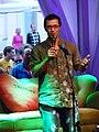 Koomik Stuart Johnson esinemas festivalil tARTuFF, otsevaade, 9. august 2012.jpg