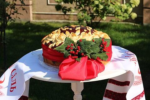 Wedding korovai (traditional Slavic bread)