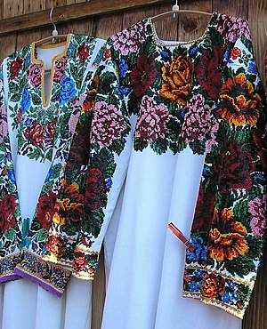 Hutsuls - Hutsul wedding dress, bead embroidery