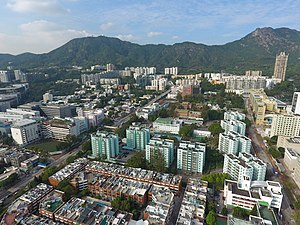 Kowloon Tong - North part of Kowloon Tong. Lion Rock is visible in the background.