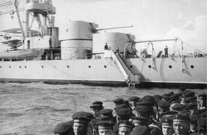 180mm Pattern 1931-1933 - MK-1-180 single turrets aboard the Soviet light cruiser Krasnyi Kavkaz