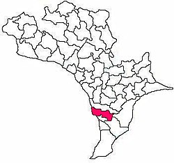 Mandal map of Krishna district showing Challapalli mandal (in Rose Colour)
