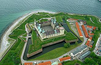 Kronborg - Aerial Photo of Kronborg Castle