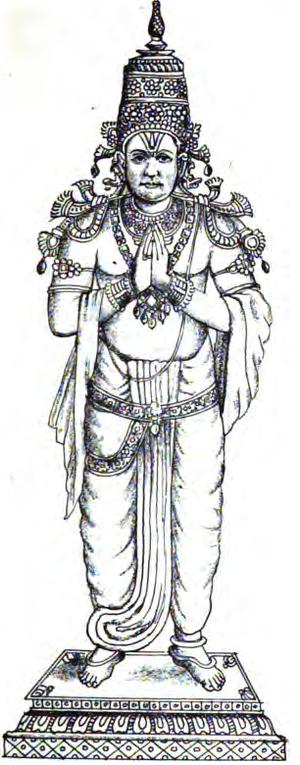 Kulashekhara Alwar - An modern depiction of Kulasekhara Alvar (19th century)