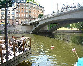 road bridge between Kungsholmen and Norrmalm in Stockholm, Sweden