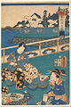 Kunisada - Viewing the seashore at the Eguchi Inn (one of a triptych with F1978.58 and F1978.59) - Google Art Project.jpg