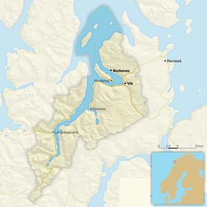 Kvæfjord - Kvæfjord map