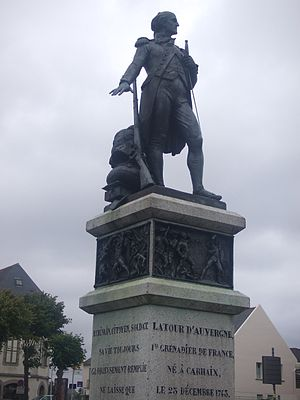 Théophile Corret de la Tour d'Auvergne - Statue of de la Tour d'Auvergne in Carhaix