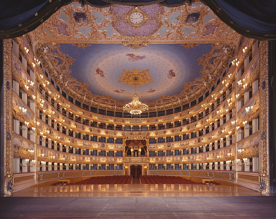 La Fenice Opera House from the stage