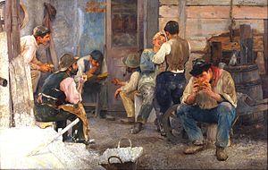 Pío Collivadino - La hora del almuerzo, 1903.