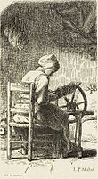 Labours of the fields-Woman spinning (Millet).jpg