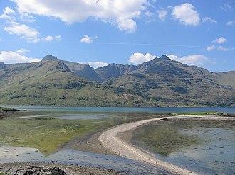 Knoydart - Ladhar Beinn from Eileann Choinneach