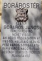 Lakóház. Boráros János domborműves emléktábla. - Budapest, Belső-Ferencváros, Ferenc körút, 2-4.JPG