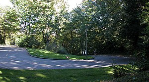 Lakeview Park (Seattle) - Another hairpin curve in the boulevard