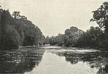 Den botaniske hagen ligger på vestbredden av elven overfor Garden Reach.
