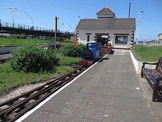 "Lakeside Miniature Railway - Lakeside Miniature Railway, Marine Parade terminus. Locomotive ""Jenny"""