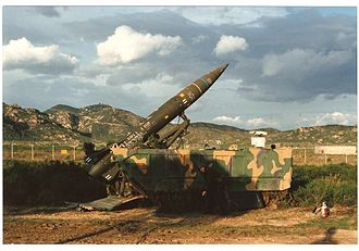 """3rd Missile Brigade """"Aquileia"""" - 3rd Missile Group Volturno readying a MGM-52 Lance missile for launch"""