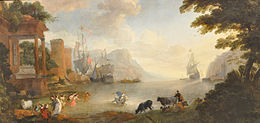Landscape with Rape of Europa, Hendrik van Minderhout, in Rouen.jpg