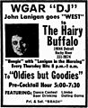 Lanigan at Hairy Buffalo - 1974 print ad.jpg