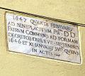 Lapide 1647 in via ravecca.JPG