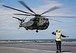 Largest helicopter in the US Navy lands on HMS Queen Elizabeth MOD 45165137.jpg