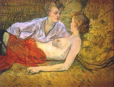 Henri de Toulouse-Lautrec, les deux Amantes