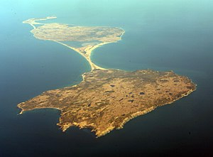 Miquelon Island - Miquelon Island in the center, south of Le Cap and north of Langlade Island