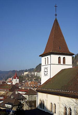 Le Locle - Image: Le Locle Kath Kirche