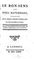 Le bon sens ou Idées naturelles opposées aux idées surnaturelles - 1772.pdf