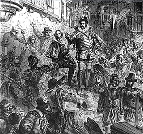 Le duc de Guise lors de la journee des barricades by Paul Lehugeur 19th century.jpg