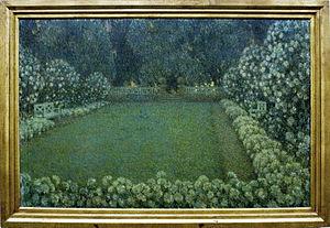 Henri Le Sidaner - The White Garden at Twilight, 1912