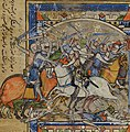 Leaf from the Morgan Picture Bible - Battle detail.jpg