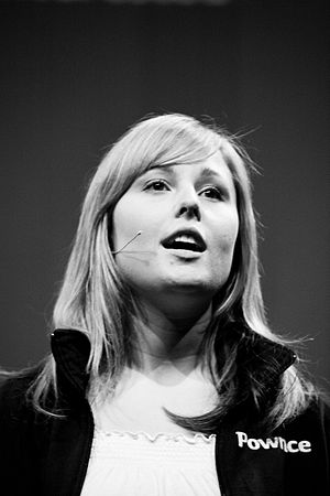 Leah Culver - Speaking in 2008 at The Next Web Conference (Amsterdam)