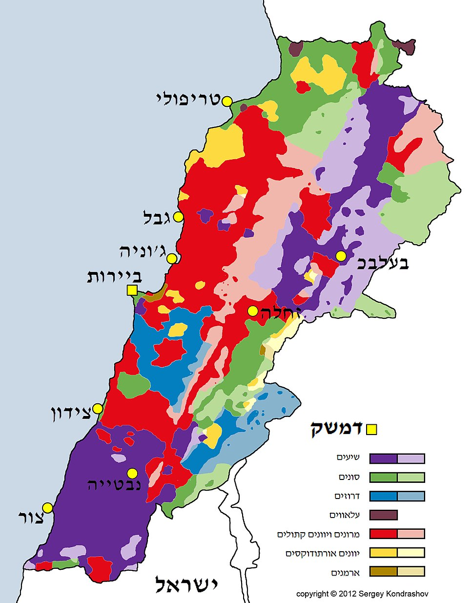Lebanon Religious groups HEB