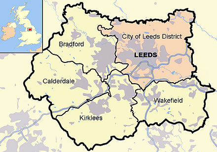 Map of Leeds in West Yorkshire Leeds in West Yorkshire.jpg