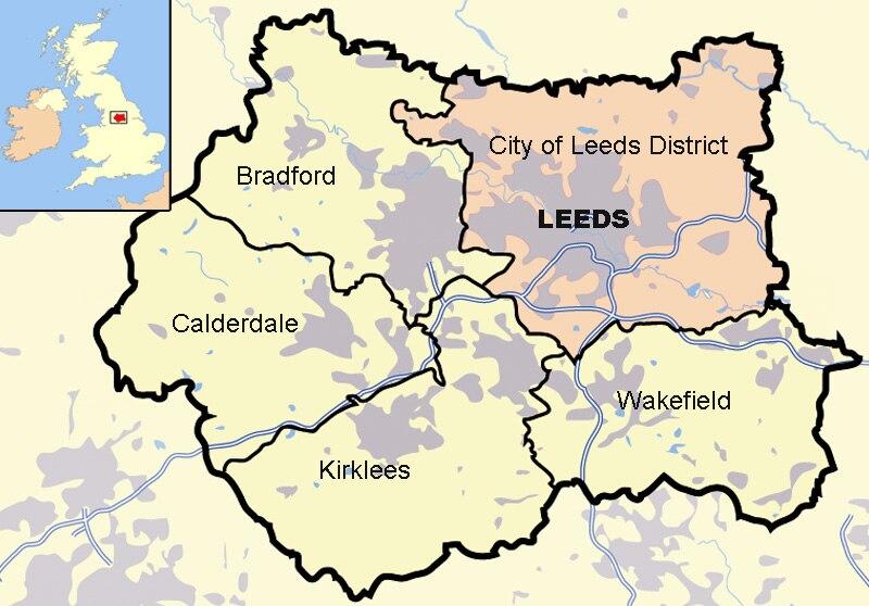 Leeds in West Yorkshire